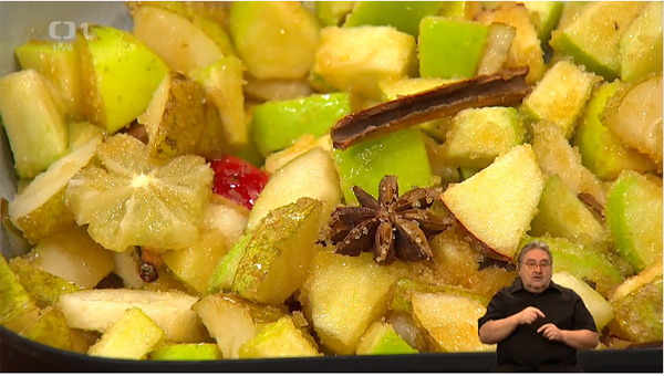 Věruška v Sama doma 29.1.2016 - ovoce na pečení