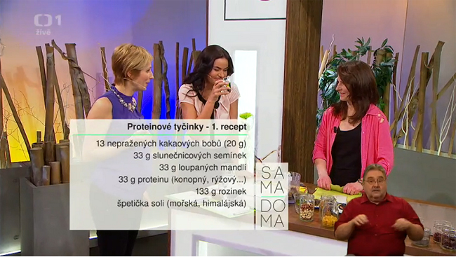 Věruška v Sama doma 26.2.2016 - 1. recept