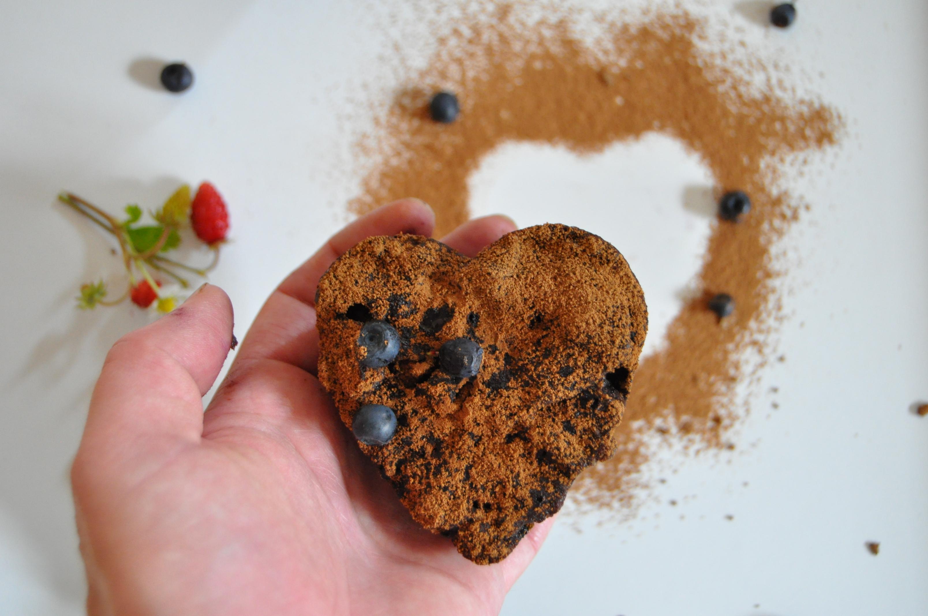 Brownies bezlepkové s borůvkami