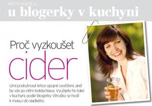 Apetit S blogerkou v kuchyni červenec 2011 - cider