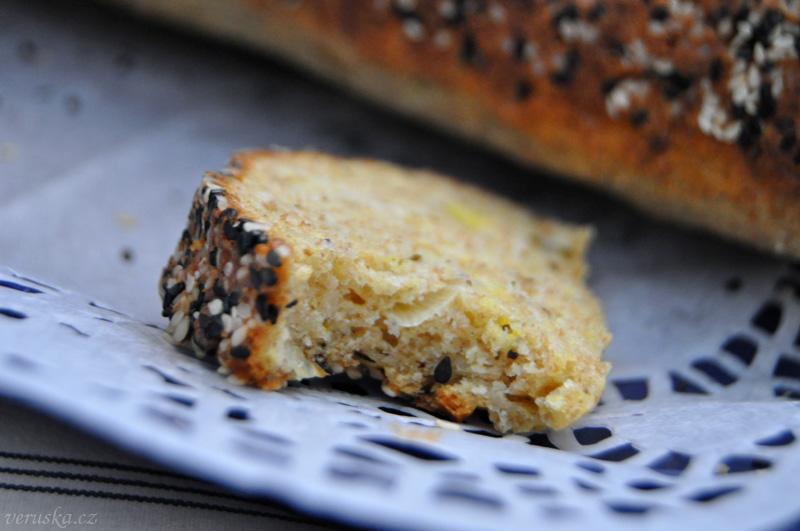 Tvarohový chlebíček s pórkem