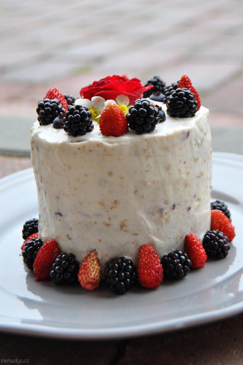 Pohankový dortík s tvarohovým krémem