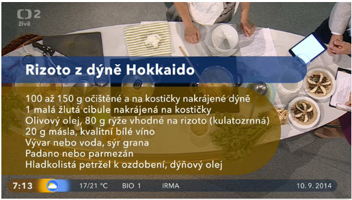 dr-10-9-2014-celer-recDobré ráno 10.9.2014 - podzimní recepty - rizoto z dýně Hokkaido recept