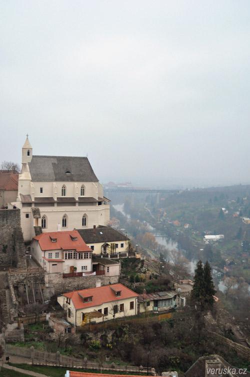 Znojmo - pohled z hradu na řeku Dyji