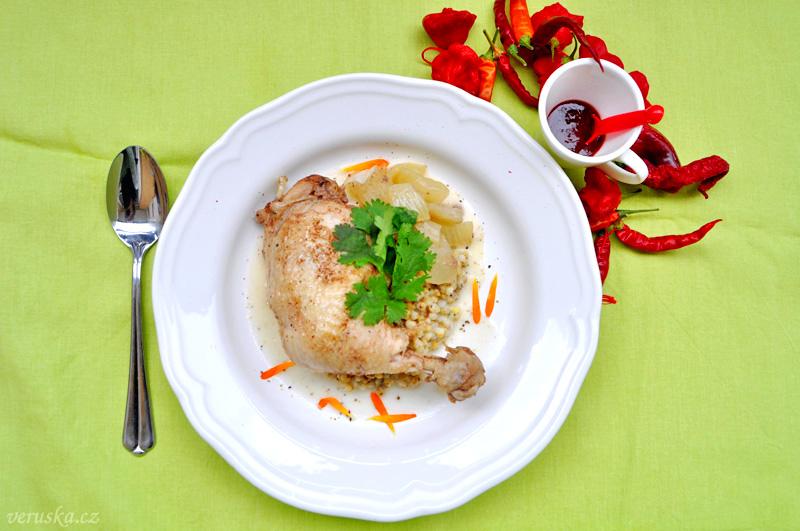 Kuře na patizonu s HUHU Chilli omáčkou