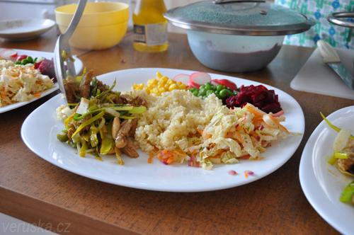 Zdravé jídlo na talíři