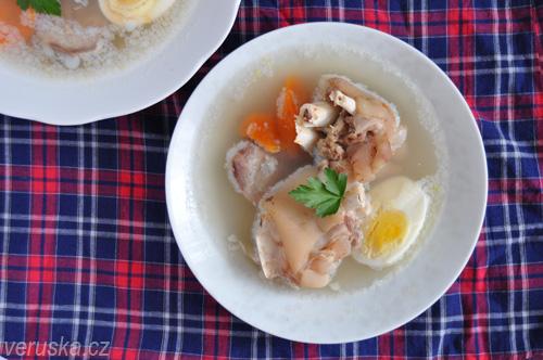 Kocsonya - hotová kočoňa na talíři