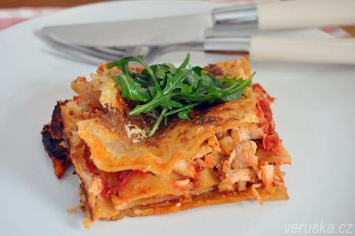 Lasagne z kuřecích prsou