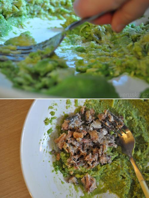 Pomazánka z rybiček a avokáda
