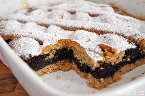 Makový koláč s povidly