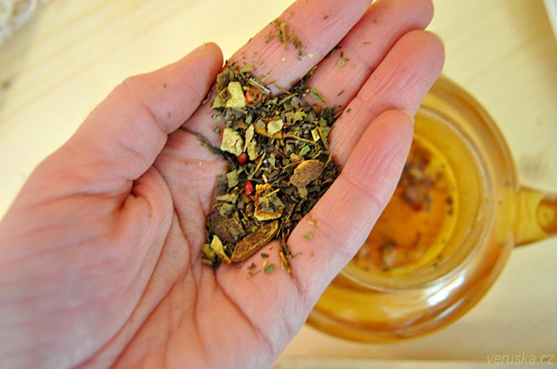 Ajurvédská směs tulsi se zázvorem Manu tea