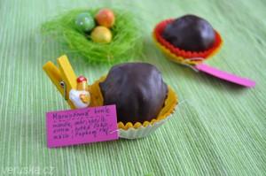 Marcipánová koule s hořkou čokoládou