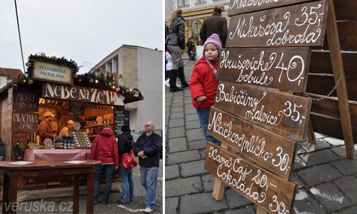 Vánoční trhy na Zelném rynku - stánek s medoládou