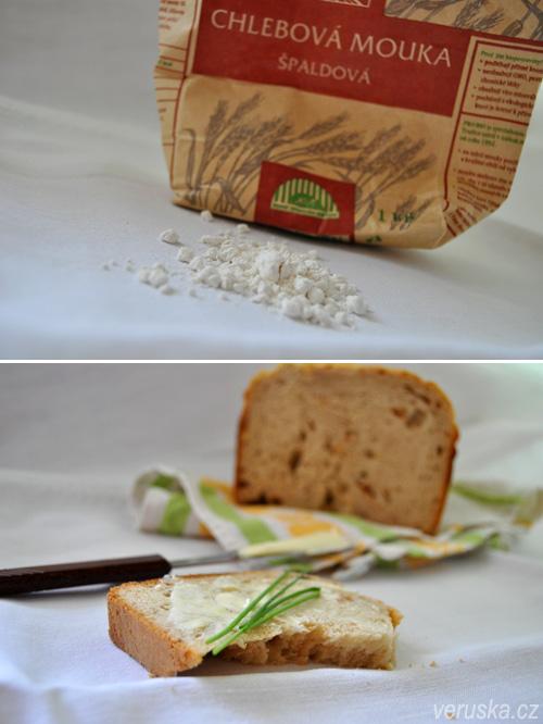 Špaldová mouka a chléb z ní pečený
