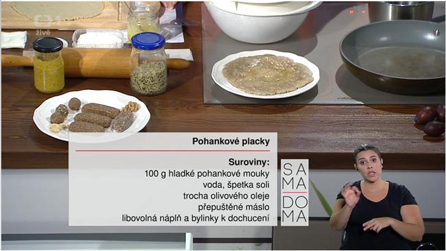 Pohankové placky recept - Sama doma 16.9.2016