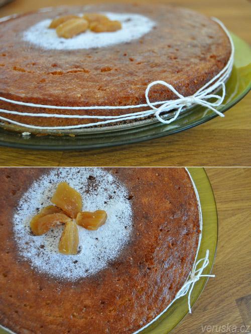 Mandlový koláč s polentou