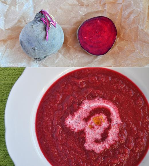 Polévka z červené řepy a křenu