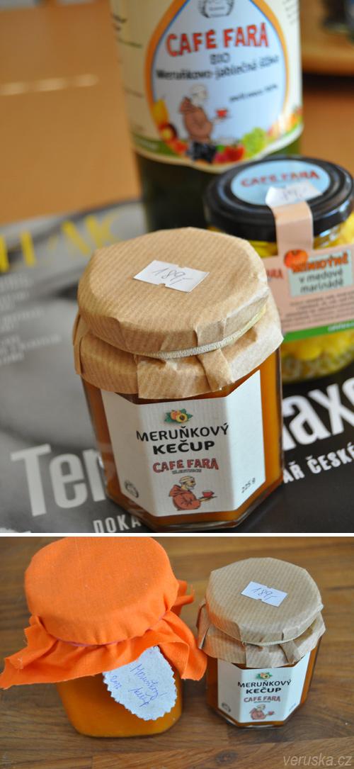 Meruňkový kečup a produkty Café Fara