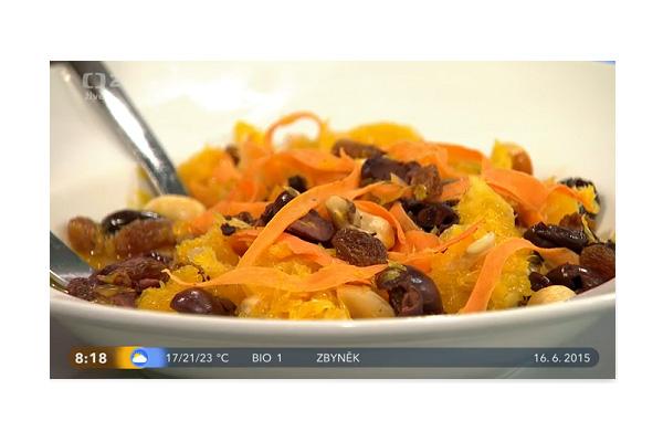 Detox s Věruškou v Dobrém ránu - salát z mrkve a pomeranče