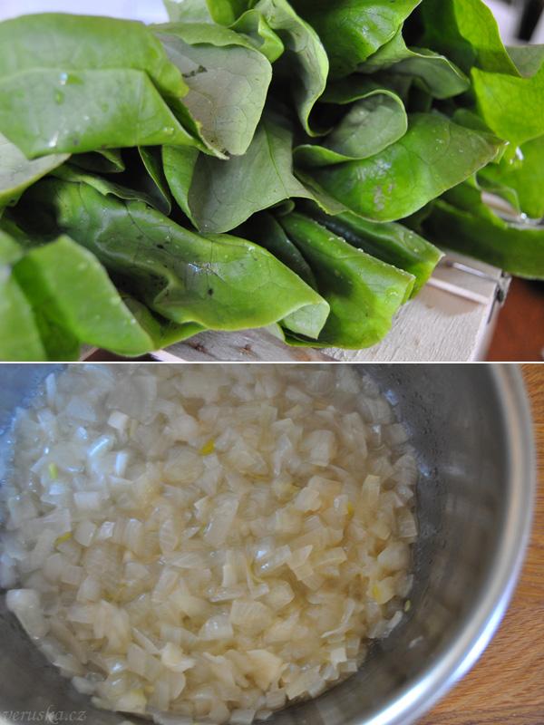 Hlávkový salát a základ na polévku