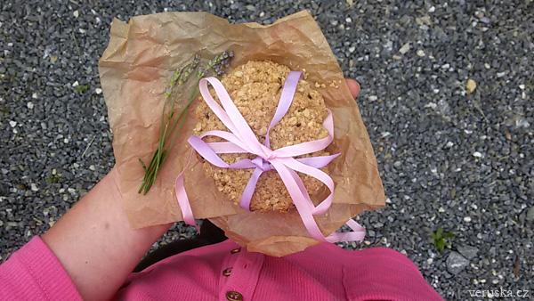 Špaldovo-ovesné sušenky s levandulí