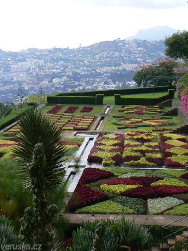 Pohled z vrchních teras zahrady vážně stojí za to.