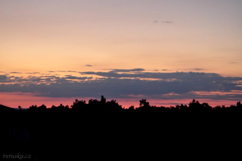 Západ Slunce na Kohoutovicemi