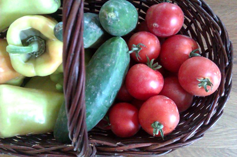 Zelenina v koši