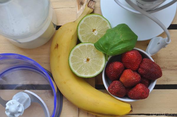Suroviny na ovocnou zmrzlinu